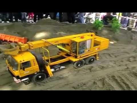 Truk Trailer Di Proyek Jembatan Mobil Mainan Anak Mainan Anak Mobil Mainan Mobil