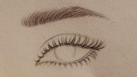 تعليم الرسم بالرصاص كيف ترسم شعر الرموش والحواجب شرح بالتفصيل للمبتدئين Youtube Face Drawing Art Inspiration Drawing Human Face Drawing