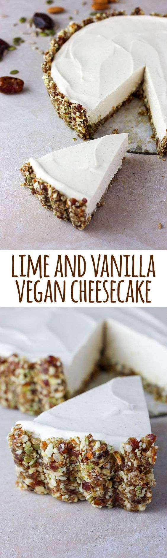 This easy no-bake lime and vanilla vegan cheesecake is light, creamy and subtly sweet with a perfectly silky texture. via @quitegoodfood