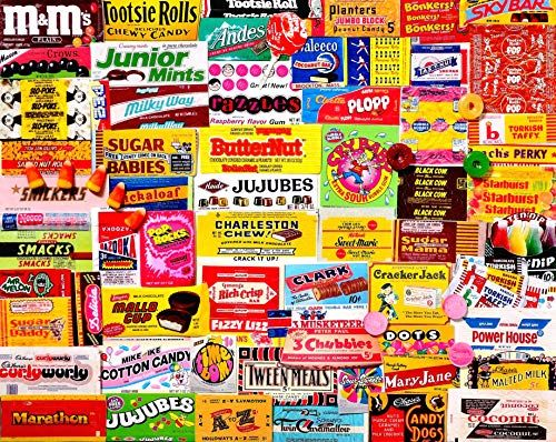 White Mountain Puzzles Candy Wrappers 1000 Piece Collage Jigsaw