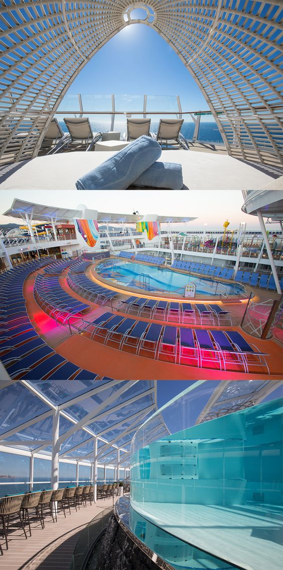 Pools onboard Symphony of the Seas
