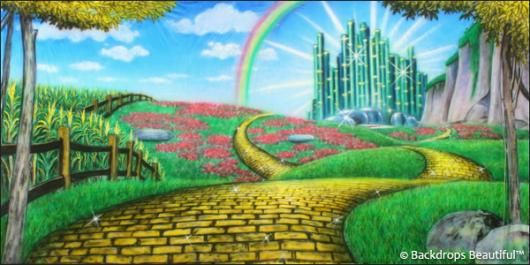 Walk Along The Yellow Brick Road Wizard Of Oz Scenery By