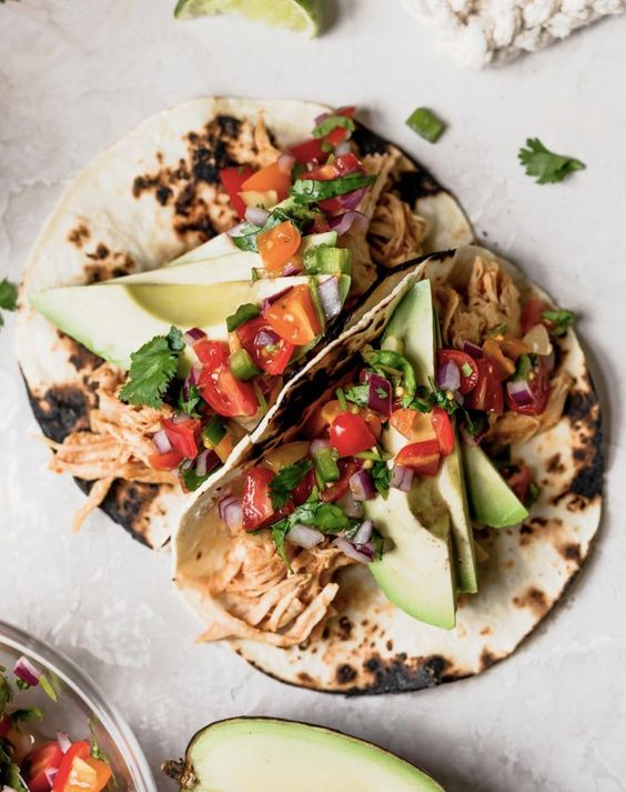 Instant Pot Chipotle Honey Chicken Tacos