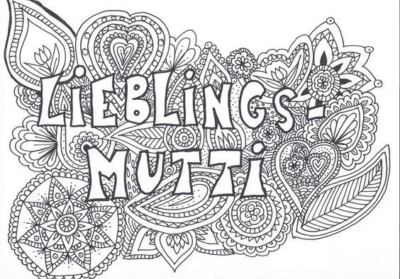 Mandala Muttertag Lieblingsmutti Speed Drawing Malvorlage Mandala Zum Ausdrucken Mandalas Zum Ausdrucken Malvorlagen
