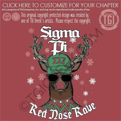 Greek Christmas 2020 Date Sigma Pi tshirt design by TGI Greek! pr, baseball cap, christmas
