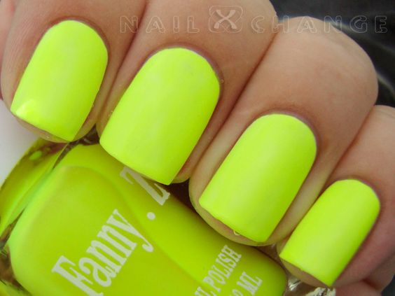 """AWESOME """"highlighter"""" color!!!nailXchange"""