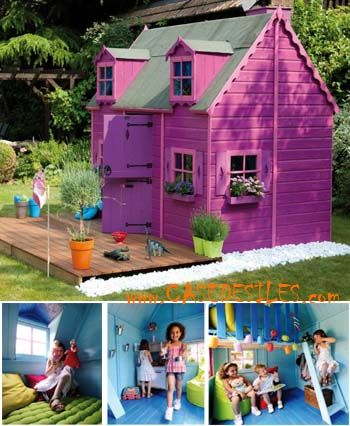 Maisonnette en bois pour enfant 0811381 acheter pas cher for Acheter maison pas cher