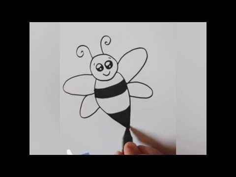 رسم اطفال سهل وبسيط تعليم رسم للاطفال خطوة خطوة رسم كرتون نحلة Kids Draw Learning Step By Step Youtube Drawing For Kids Cartoon Drawings Drawings