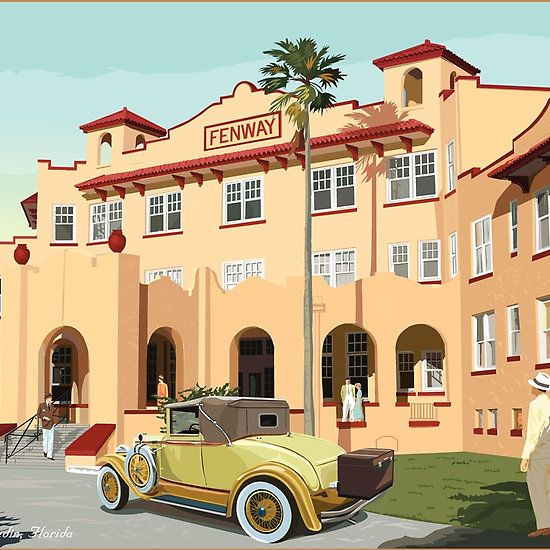 Art Deco Fenway Hotel Dunedin Florida Looks Like It Is Closed Now Not Sure The Buildings Are Being Used For Anything