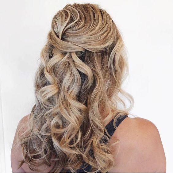 Half up half down hairstyle