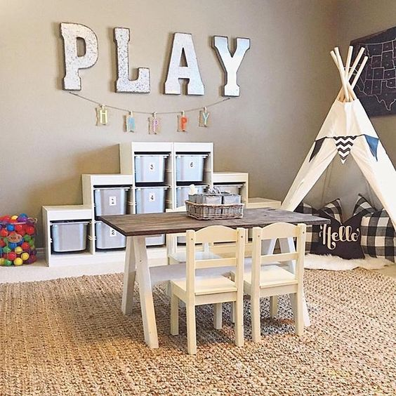 The play room is clean and worthy to take a photo! So I found this toy organizer in my old back alley way about 4 yeas ago. I gave it a paint job and glued @decorsteals numbers on the tubs. It turned out pretty decent looking. Also repurposed the kids farmhouse table I found on Craigslist! Sharing for #naileditfridays! Thanks for the tag @backroadsignco and also Sharing for #frugalfarmhousefridays #friyaydecorday (they want to see numbers and letters) #fromrust2roses #farmhousefreshfridays #...