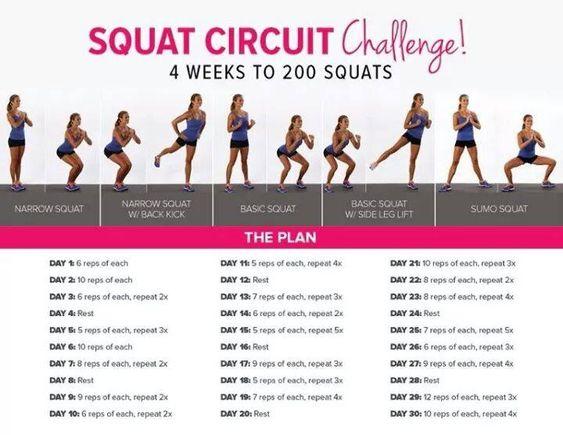 Squat Circuit Challenge: gli esercizi per gambe e glutei che aggiungo alla BBG