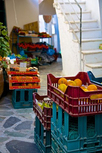 Naxos / Greece...my favorite island. Hidden treasure all over old market including this market!