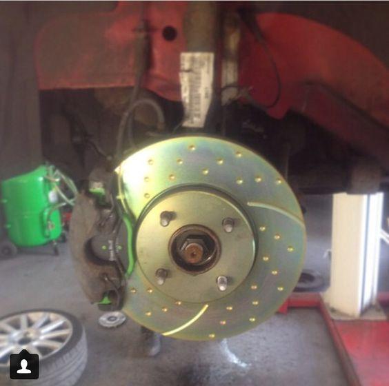 New brakes! EBC turbo grooved discs, EBC green stuff pads