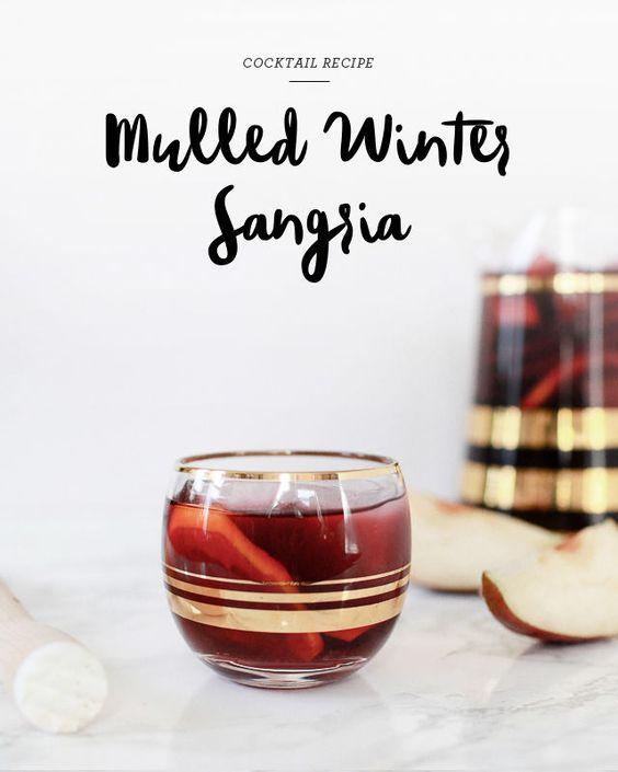 red wine, an orange, a lemon, a red Anjou pear, orange liqueur, spiced ...