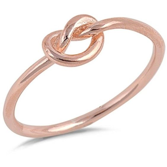 Amazon.com: Infinity Love Knot Heart Rose Gold .925 Sterling Silver... ($12) ❤ liked on Polyvore featuring jewelry, rings, sterling silver heart ring, infinity ring, sterling silver rings, rose gold infinity ring and infinity love knot ring