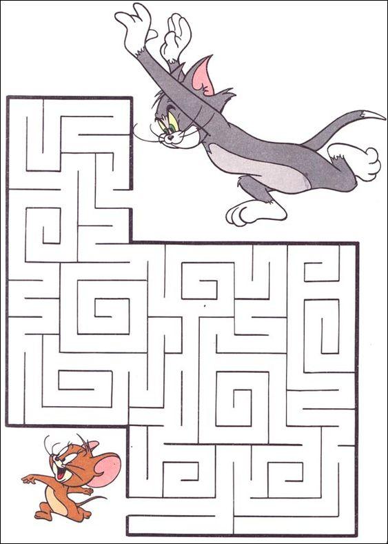 Level 1 von 5 leicht alter 4 bis 8 jahre jeu du - Labyrinthe a imprimer ...