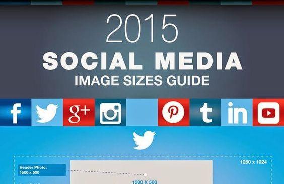 Guía 2015 de tamaños de imágenes para Redes Sociales (infografía)   ChistesparaDG