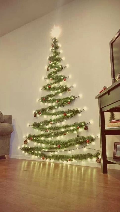 30 Awesome Christmas Wall Decor Ideas Wall Christmas Tree Easy
