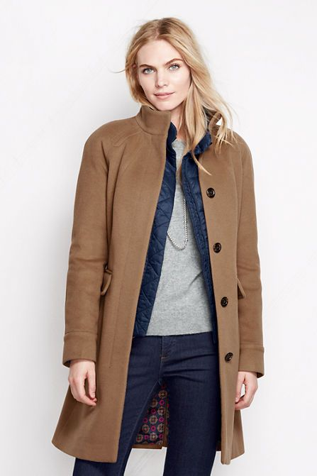 As seen in People Style Watch - the Lands' End Luxe Wool Car Coat