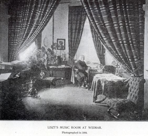 Franz Liszt's music room at Weimar