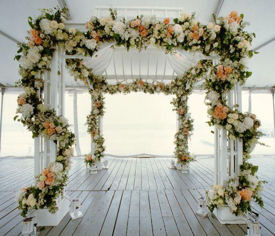 Wedding Altar Garland: Floral Garland Wedding Ceremony Www.tablescapesbydesign