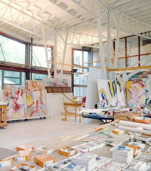 Willem de Kooning - studio                              …