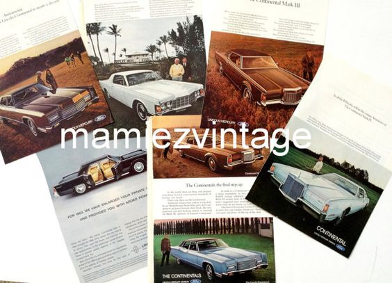 Lot of Vintage Lincoln Car Ads/ Ford Car Magazine by mamiezvintage, $16.95