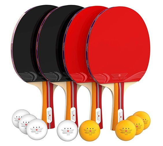 Buy On Amazon Nibiru Sport Ping Pong Paddle Set 4 Player Bundle Pro Premium Rackets 3 Star Bal Ping Pong Paddles Sets Table Tennis Set Ping Pong Paddles