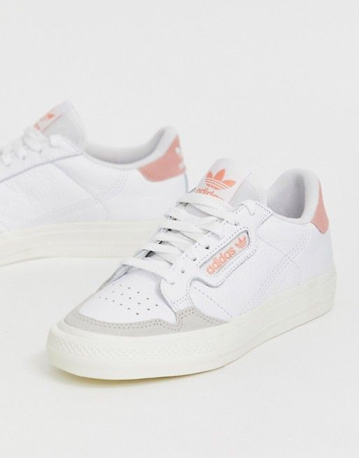 adidas Originals Continental 80 Vulc sneakers in white and ...