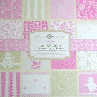 Anna Griffin - Hannah Collection - 12x12 Flocked and Embossed Cardstock Pack - Pink at Scrapbook.com $14.24:
