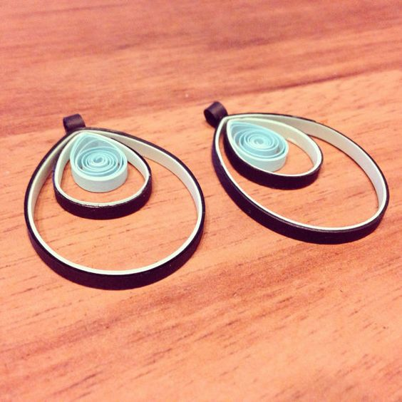Swirl teardrops by PaperCurlSwirls on Etsy