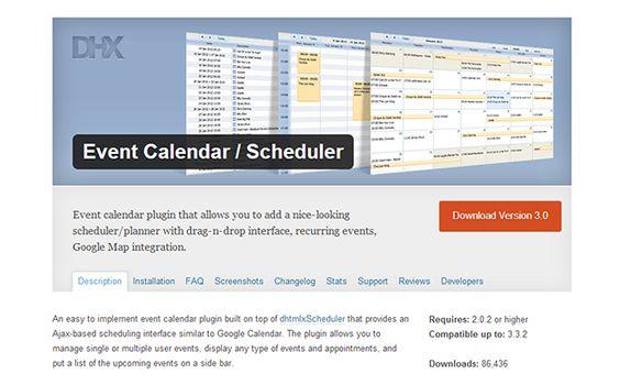 WordPress Event Calendar -Wordpress Events Plugin Automobile - event calendar
