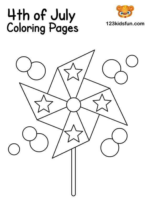 4th Of July Coloring Pages For Kids 123 Kids Fun Apps Coloring Pages For Kids Coloring Pages July Colors