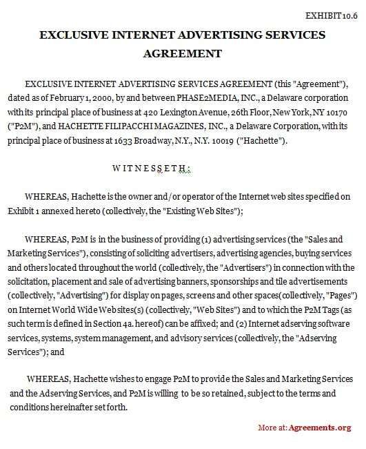 5 Contract Agreement Between Two Parties Samples Contract