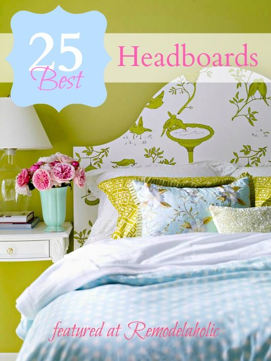 25 Headboard Ideas #bedroom #headboard