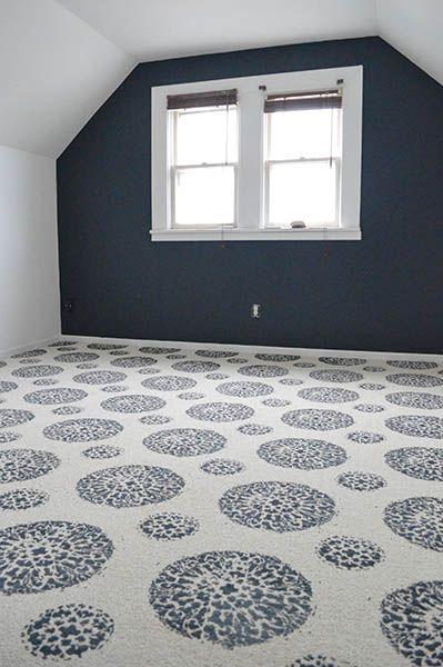 How to Paint a Carpet Magic Carpet Ride | Sarah's Big Idea http://www.sarahsbigidea.com/2014/11/magic-carpet-ride/