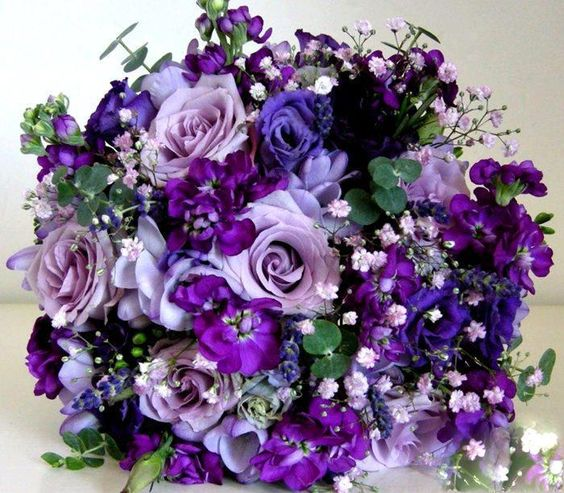 Dark Blue Flowers For Wedding Bouquets: Babies Breath, Bridal Bouquets And Bouquets On Pinterest