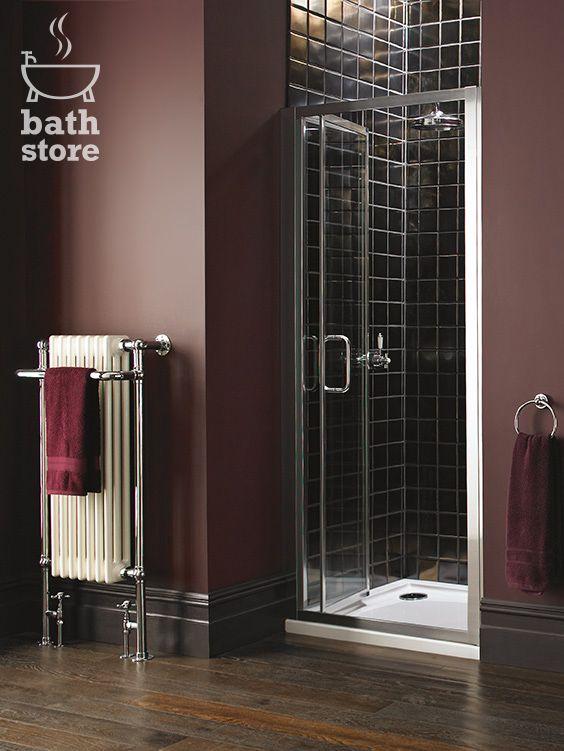 Atlas 900mm Shower Enclosure Bifold Door Shower Enclosure Small