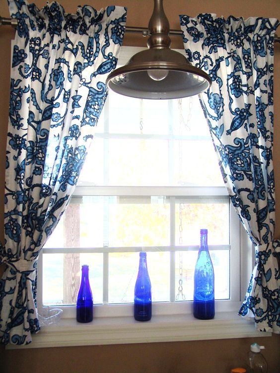 Blue And White Kitchen Curtains - Sarkem.net