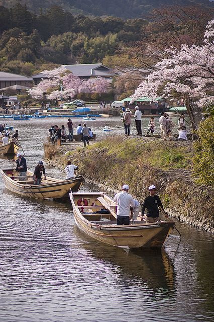 Boats at Arashiyama