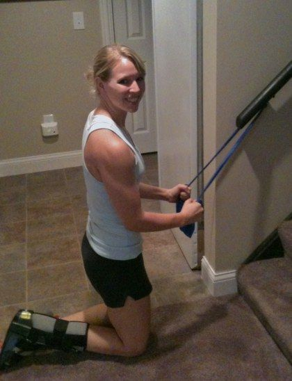 Fitness routine for those of us with leg injury