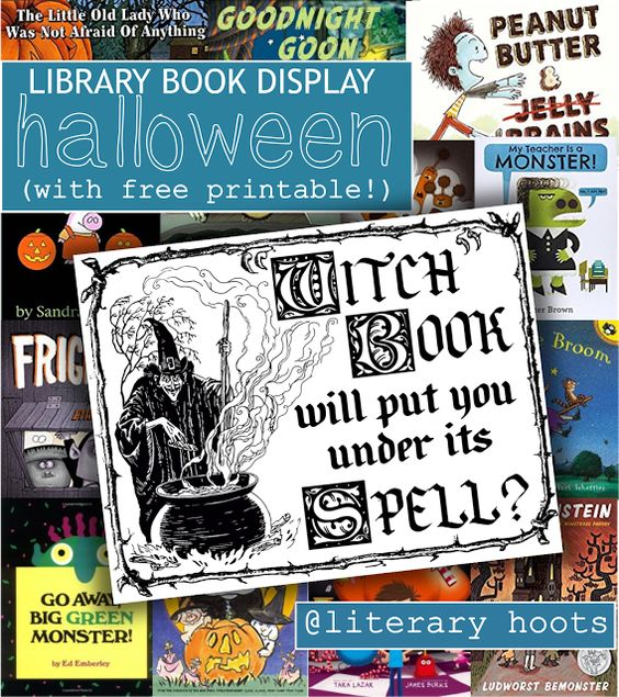 It's not too late to get a Halloween book display up!                                                                                                                                                                                 More