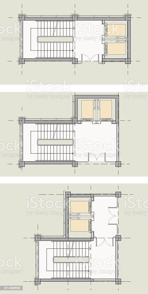 Escalera Del Ascensor Tipo De Nucleo Diseno De Hospitales Diseno De Ascensor Arquitectura