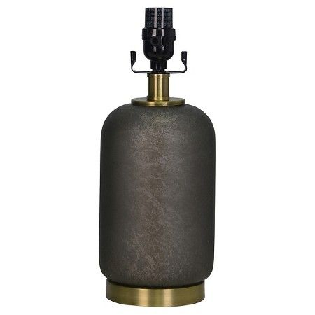 Lamp Base Dark Grey with Brass - Threshold™ : Target
