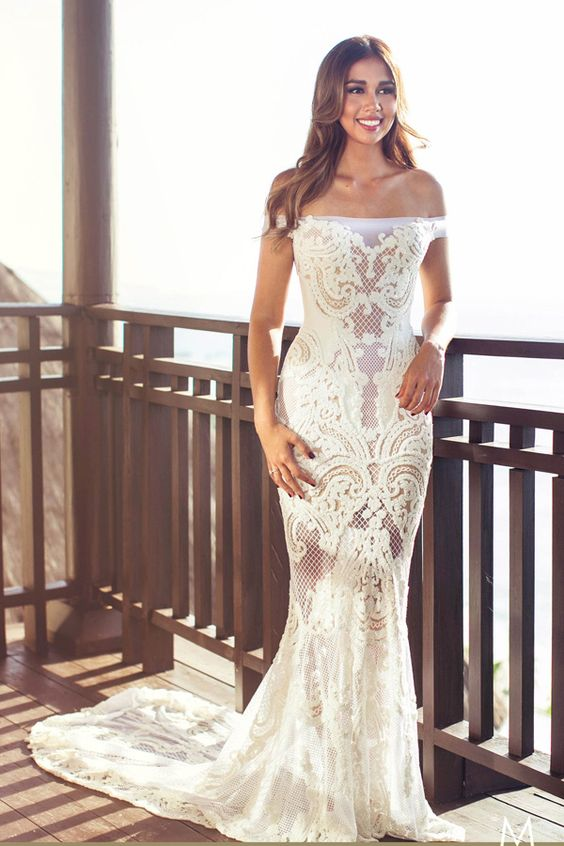 Bride in customized J'Aton Couture wedding gown // Wedding gown inspiration: