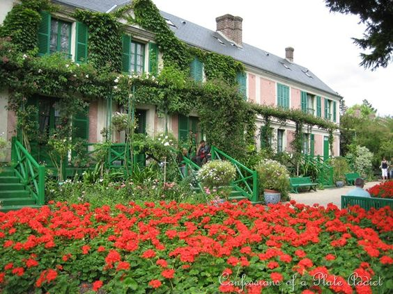 Monet's house. It's the best pink house ever.