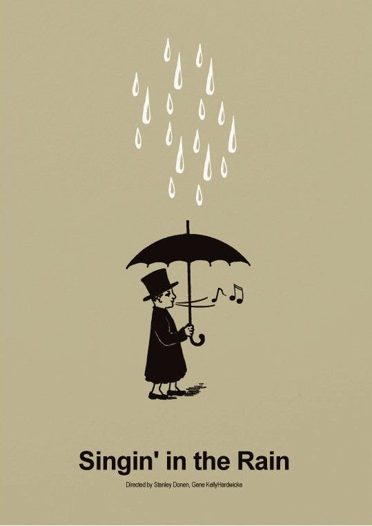Gene Kelly Illustration Singing in the Rain Print Singing in the Rain Illustration Gene Kelly Print Singing in the Rain Inspired Poster