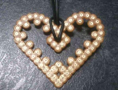 Valentine hama perler heart necklace by Hamamia on deviantART