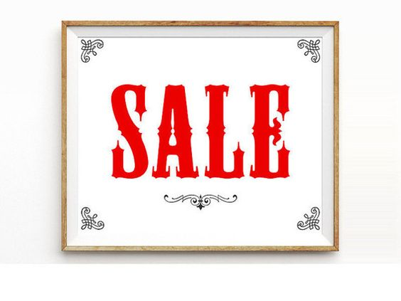 SALE sign printable instant download by BloomWhereverYouAre: